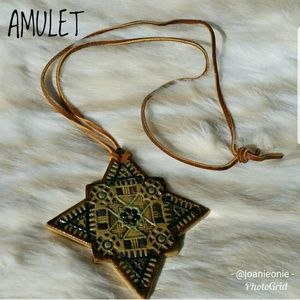 HALLOWEEN Costume Vintage Boho Amulet Pendant